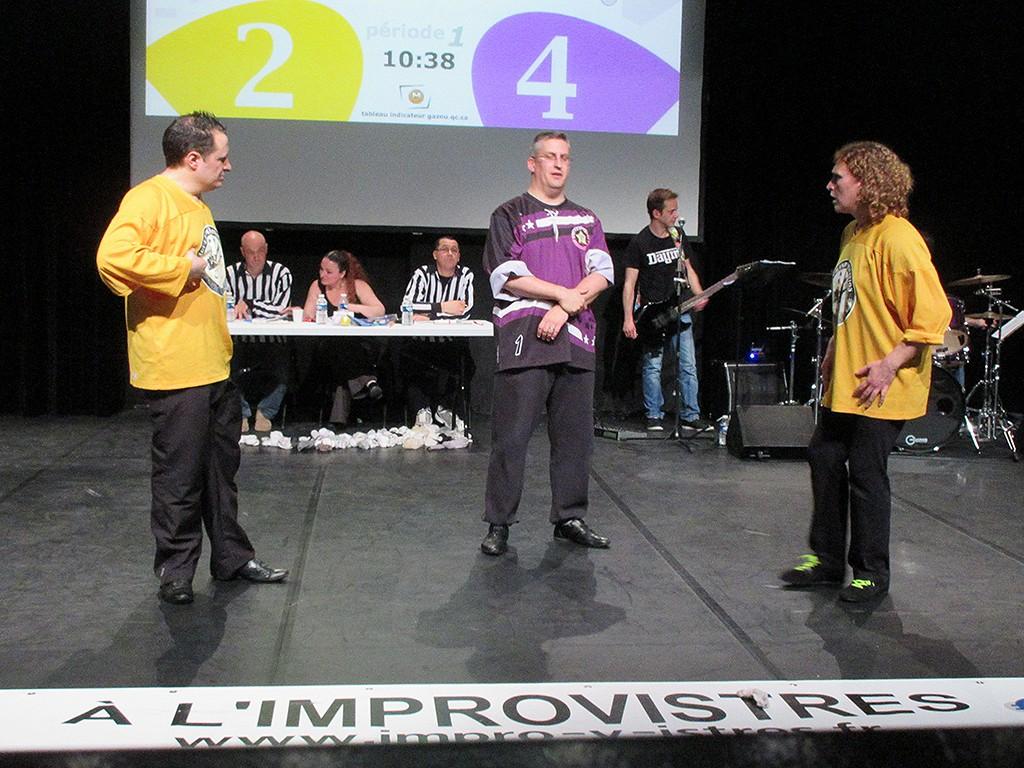 Le match A l'improv'istres-Guignols du 5 mars 2016